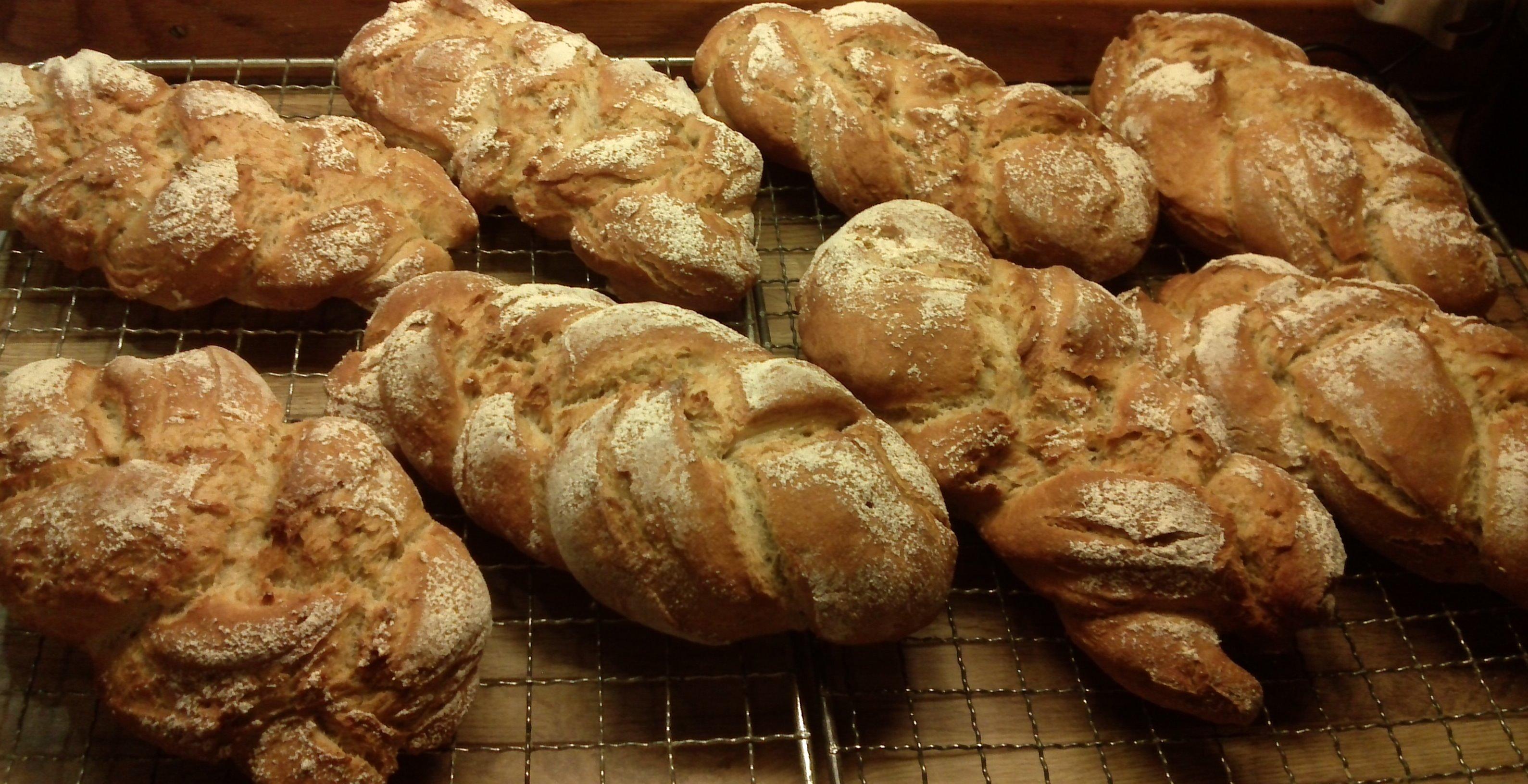 steke brød på varmluft